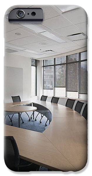 Empty Boardroom Or Meeting Room In An iPhone Case by Marlene Ford