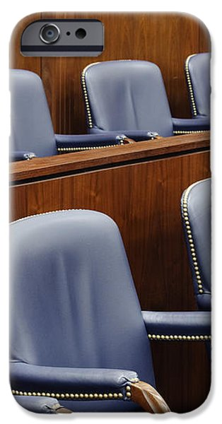 Empty Jury Seats in Courtroom iPhone Case by Jeremy Woodhouse