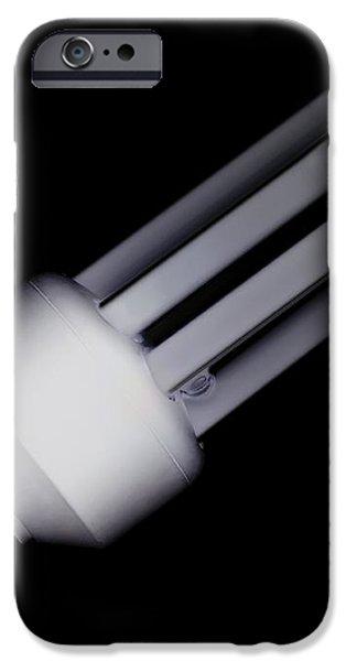 Energy-saving Light Bulb iPhone Case by Mark Sykes