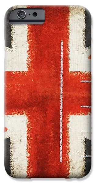 England flag postcard iPhone Case by Setsiri Silapasuwanchai