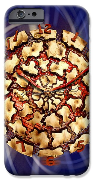 Dali Inspired iPhone Cases - Exploding Clock iPhone Case by Mike McGlothlen