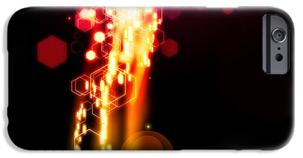 Technology iPhone Cases - Explosion Of Lights iPhone Case by Setsiri Silapasuwanchai