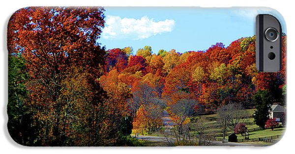 Natchez Trace Parkway iPhone Cases - Fall Drive in Tennessee iPhone Case by EricaMaxine  Price