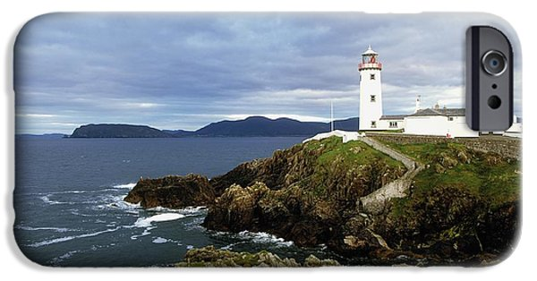 Head Harbour Lighthouse iPhone Cases - Fanad Head Lighthouse, Co Donegal iPhone Case by The Irish Image Collection