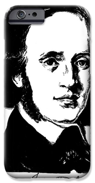Autographed iPhone Cases - Felix Mendelssohn iPhone Case by Granger