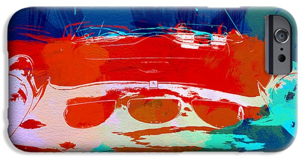Vintage Cars iPhone Cases - Ferrari GTO iPhone Case by Naxart Studio