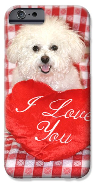 Love The Animal iPhone Cases - Fifi Loves you iPhone Case by Michael Ledray