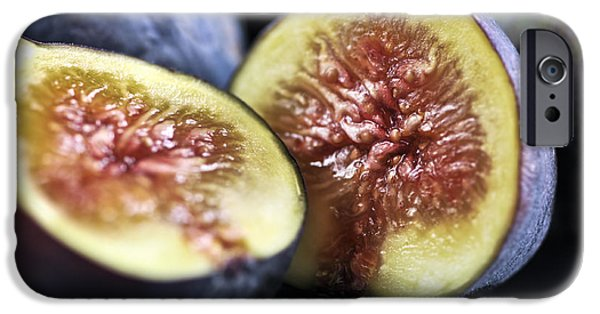 Slices iPhone Cases - Figs iPhone Case by Elena Elisseeva