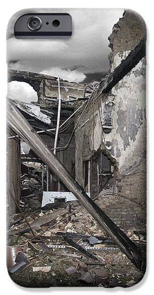 Fire Destruction, Artwork iPhone Case by Victor Habbick Visions