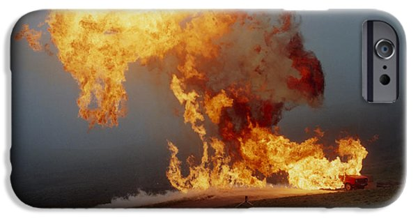 Lpg iPhone Cases - Fireball From Liquid Petroleum Gas Explosion iPhone Case by Crown Copyrighthealth & Safety Laboratory