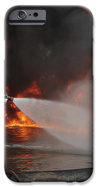Firefighting Marines Battle A Huge iPhone Case by Stocktrek Images
