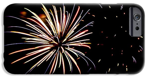Fireworks iPhone Cases - Fireworks iPhone Case by Anthony Doudt