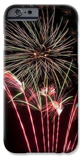 Fireworks iPhone Cases - Fireworks iPhone Case by Cindy Singleton