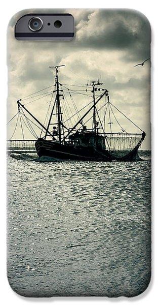 fishing boat iPhone Case by Joana Kruse