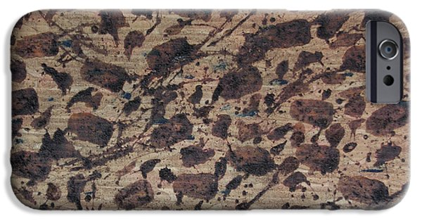 Nature Abstract Tapestries - Textiles iPhone Cases - Forms of Coffee iPhone Case by TB Schenck