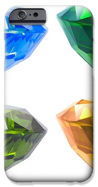 Four diamond iPhone Case by ATIKETTA SANGASAENG