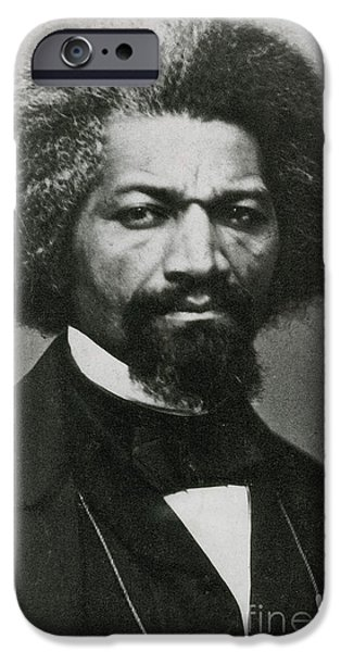 Abolition Movement iPhone Cases - Frederick Douglass, African-american iPhone Case by Photo Researchers