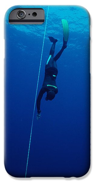 Apnea iPhone Cases - Free-diving Competitor iPhone Case by Alexis Rosenfeld