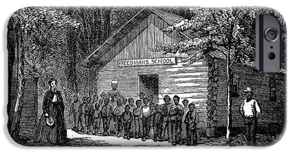 Freedmen iPhone Cases - Freedmen School, 1868 iPhone Case by Granger