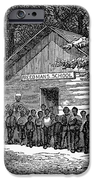 FREEDMEN SCHOOL, 1868 iPhone Case by Granger