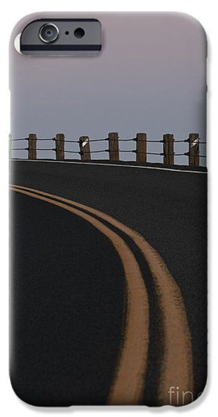 Full Moon Over a Curving Road iPhone Case by Jetta Productions, Inc