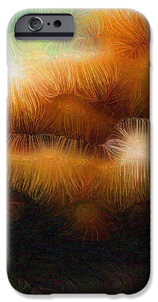 Fungus Tendrils iPhone Case by Ron Bissett