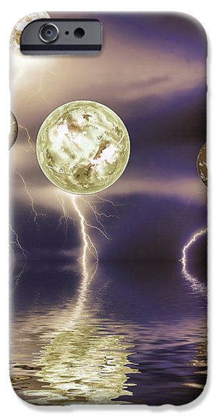 Galactic storm iPhone Case by Sharon Lisa Clarke