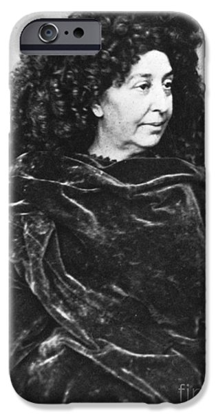 Baroness iPhone Cases - George Sand, French Author And Feminist iPhone Case by Photo Researchers