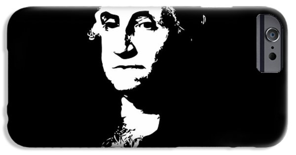 President iPhone Cases - George Washington Black and White iPhone Case by War Is Hell Store