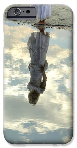 girl and the sky iPhone Case by Joana Kruse