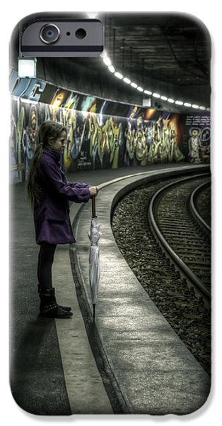 girl in station iPhone Case by Joana Kruse