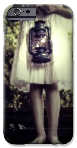 Oil Lamp Photographs iPhone Cases - Girl With Oil Lamp iPhone Case by Joana Kruse
