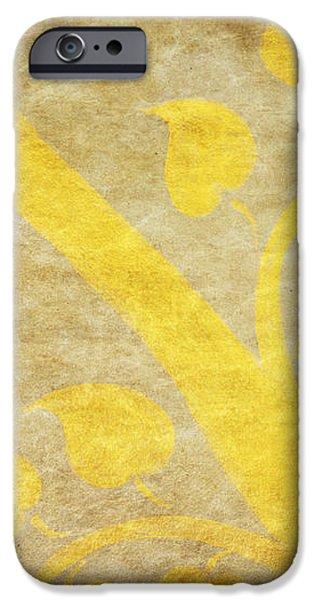 golden tree pattern on paper iPhone Case by Setsiri Silapasuwanchai