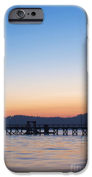 Bc Coast iPhone Cases - Government Pier at Dawn iPhone Case by Rob Tilley