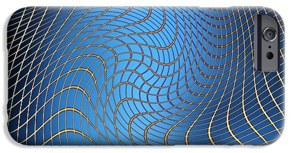 Cosmological iPhone Cases - Gravity Waves In Space-time, Artwork iPhone Case by Victor De Schwanberg