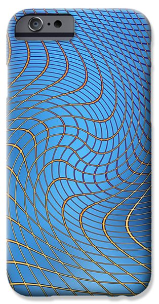 Gravity Waves In Space-time, Artwork iPhone Case by Victor De Schwanberg