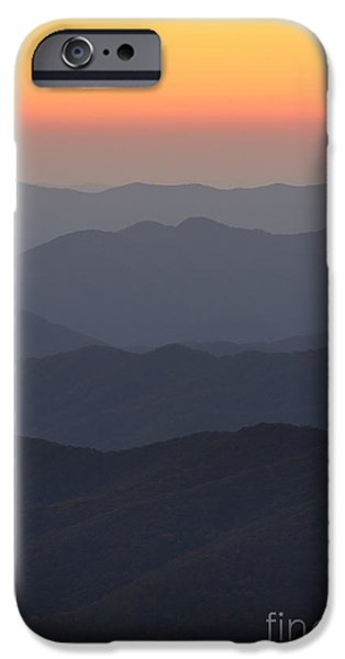 Amazing Sunset iPhone Cases - Great Smokie Mountains at Sunset iPhone Case by Dustin K Ryan