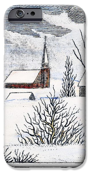 GREAT SNOW OF 1717 iPhone Case by Granger
