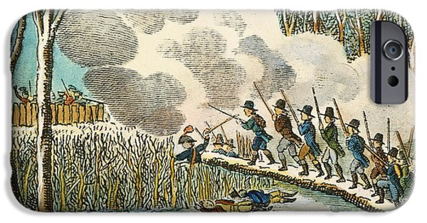 Wampanoag iPhone Cases - Great Swamp Fight, 1675 iPhone Case by Granger