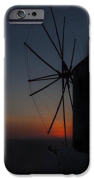 greek windmill iPhone Case by Joana Kruse