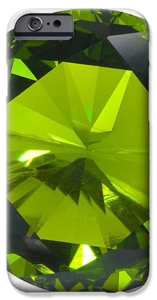 green gem isolated iPhone Case by ATIKETTA SANGASAENG