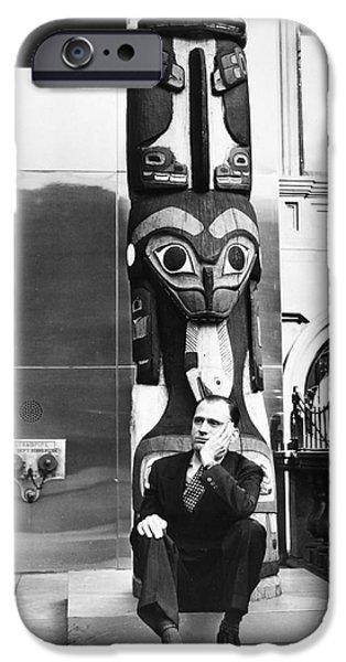 Statue Portrait iPhone Cases - H. Allen Smith (1907-1976) iPhone Case by Granger