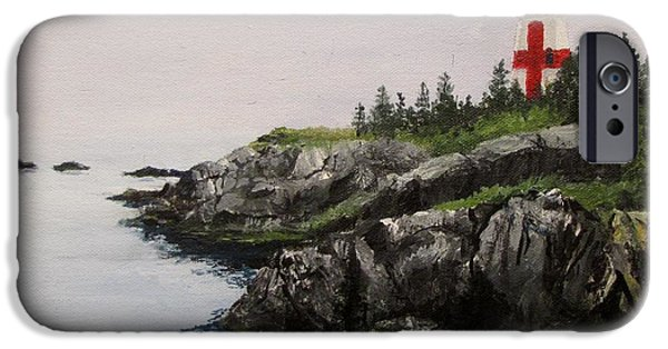 Head Harbour Lighthouse iPhone Cases - Head Harbour Lighthouse iPhone Case by Jack Skinner