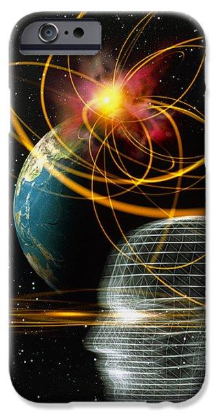 Head In Space iPhone Case by Mehau Kulyk