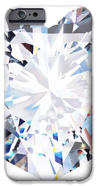 heart diamond  iPhone Case by Setsiri Silapasuwanchai