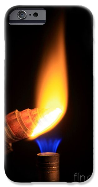 Heating Lime Limelight iPhone Case by Ted Kinsman