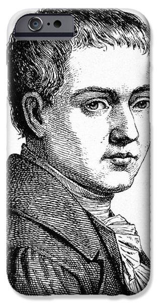 1801 iPhone Cases - Heinrich Von Kleist iPhone Case by Granger