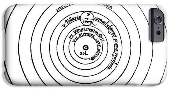 Copernicus iPhone Cases - Heliocentric Universe, Copernicus, 1543 iPhone Case by Science Source