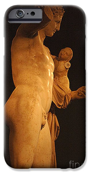 Greek Sculpture iPhone Cases - Hermes And The Infant iPhone Case by Bob Christopher