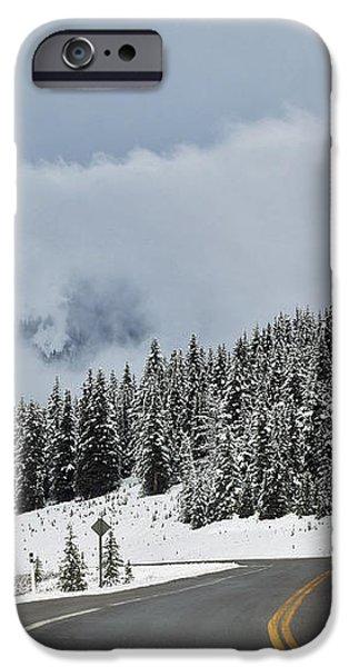 Highway 40 In Winter, Highwood Pass iPhone Case by Darwin Wiggett